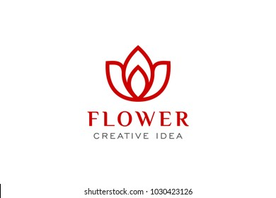 Flower and Leaf Logo Icon Template