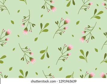 Flower and Leaf Pattern, Nature seamless design