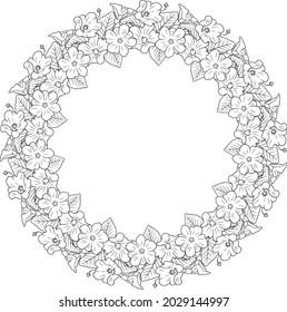 'Ilima flower lei round frame pattern decorative vector illustration
