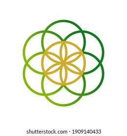 flower of life logo design for company business