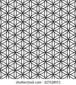 Flower Of Life Pattern Sacred Geometry Vector Illustration