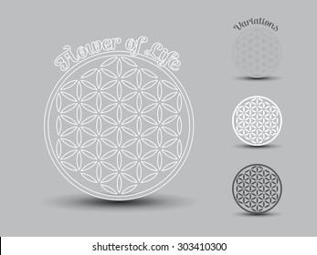 Flower of Life symbol, set of