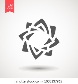 Flower logo abstract icon. design template. Florish plant flat style.