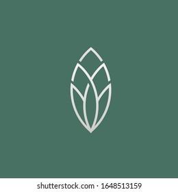 flower logo beauty health leaf