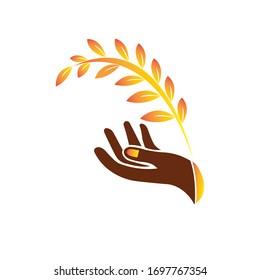 Flower logo design vector stock