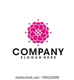 Flower logo design vector. Universal flower logo