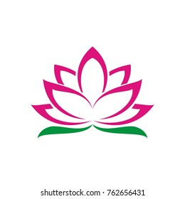 Flower logo, Lotus Flower logo design template, designed based vector format, clean and simple illustration for your company