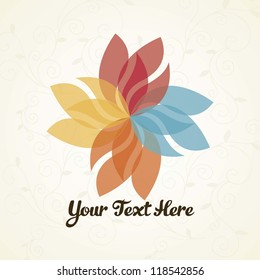 Flower logo with vintage background