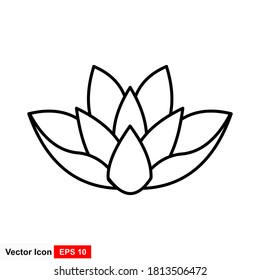 Flower, lotus icon. Vector illustration, flat design.