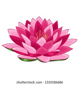 Flower lotus isolated vector. Modern design for paper, covers, fabrics, interiors, t-shirts, logos and more.