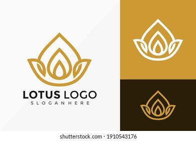 Flower Lotus Spa Logo Design, creative modern Logos Designs Vector Illustration Template