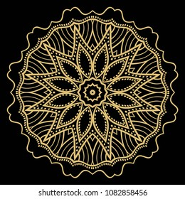 Flower mandala. Printable package decorative elements. Coloring page template. It is fantastic vector illustrations.