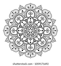 Flower Mandala, vintage decorative elements, vector illustration.