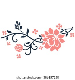 Flower motif for design elements vector.