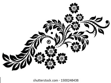 Flower motif for design lace and textile design.