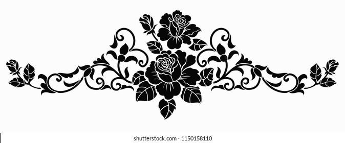 Flower motif sketch for design