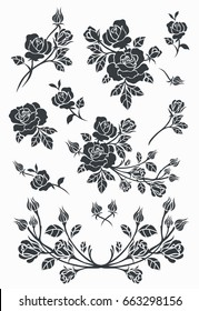 Flower motif sketch for design
