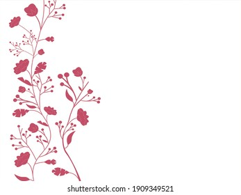 Flower motif sketch for design.Floral background. Decorative flower pattern. Floral  texture with flowers.red rose. Flower motif for design.