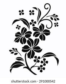 Flower motif,Rose design sketch for pattern,lace edge