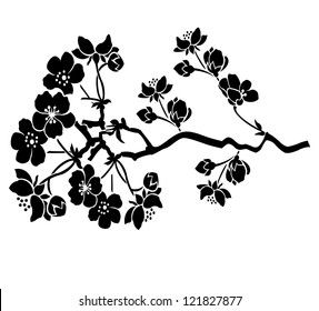 Flower motive with branch