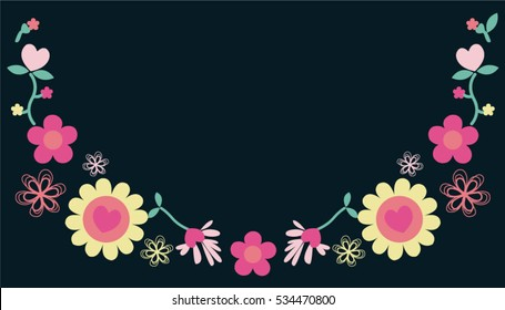 Flower necklace vector