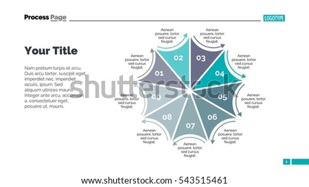 Flower Nine Petals Slide Template Stock Vector (Royalty Free ...