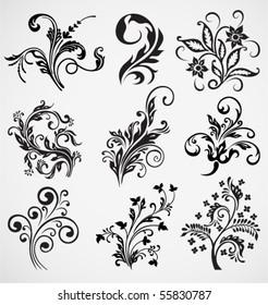 flower ornament vector pattern