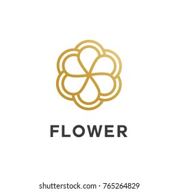 Flower outline style logo