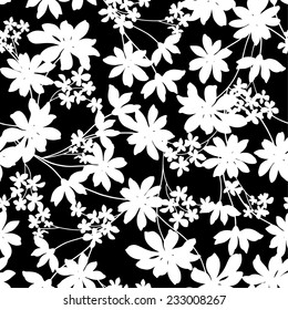 Black and White Flower Pattern Images, Stock Photos & Vectors