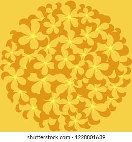 Flower pattern. Design for Chinese New Year. Vector illustration EPS10