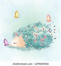 Flower Pattern Hedgehog