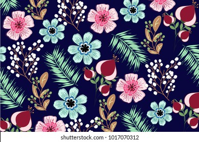 Flower pattern leaf and nature
