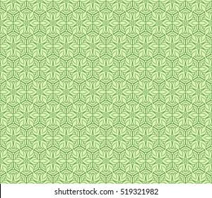 flower pattern. Seamless pattern. Arabesque. vector illustration. green color. for design, invitation wedding, valentine's, background, wallpaper