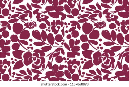 Flower Pattern and Textile Illustration (Vector)
