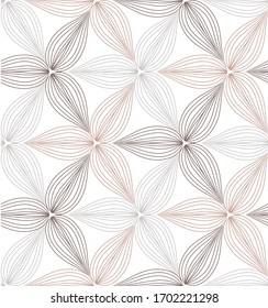flower pattern vector, repeating linear of flower petals, Geometric vector pattern repeat
