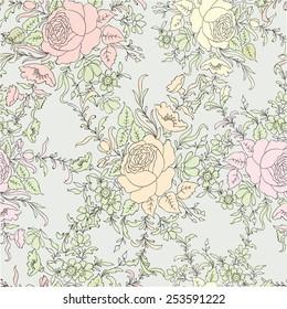 Flower pattern. Flower wallpaper. Floral seamless background.