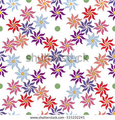 0ab0bea8314b Flower Seamless Pattern Fashion Graphic Background Stock Vector ...