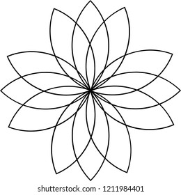 Flower Shape Geometric Pattern