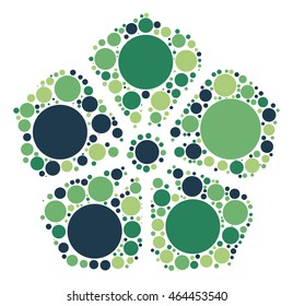 flower shape vector design by color point