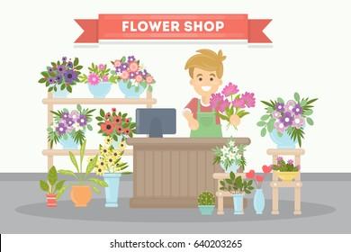 Flower shop salesman.