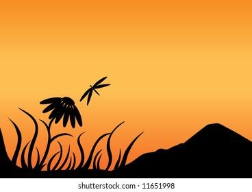 Flower silhouette.