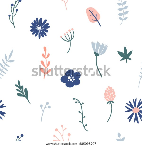 Flower Simple Minimalistic Seamless Pattern Graphic Stock Vector Royalty Free 685098907,Royal Blue Wedding Cupcake Designs