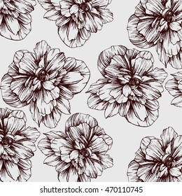 Flower sketch pattern