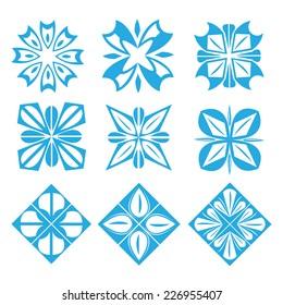flower symbol icon design . vector illustration