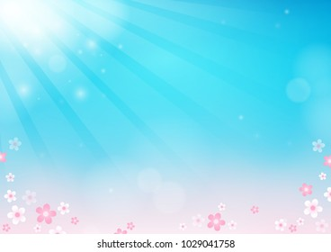 Flower theme abstract background 2 - eps10 vector illustration.