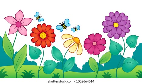 Flower topic image 9 - eps10 vector illustration.