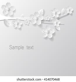 Flower tree vector background. Vector stock.