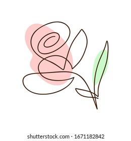Vektorillustration 1-zeitiges Kunstlogo. Minimalistische Konturzeichnung Monoline. Kontinuierliche Linienarbeit für Banner, Buchdesign, Web-Illustration.