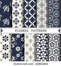 flower vector pattern,pattern fills, web page background,surface textures