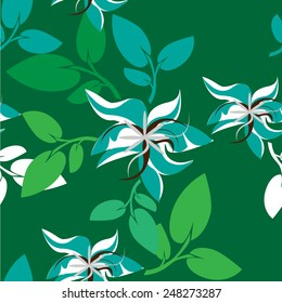 Flower Vector Seamples Illustration Flower Floral Pattern